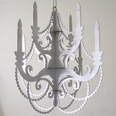 laser cut cardboard chandeliers from seequin on etsy  $46