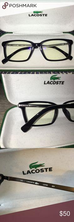 86fdd9ae9b5b4 Lacoste Eyeglass Frames, Black Grey Used, authentic, unisex plastic Lacoste  eyeglass frames