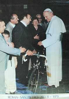 Ernesto Colnago with Pope Jean Paul II