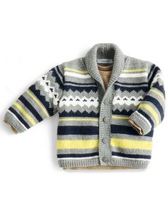 Baby Vest, Baby Boy, Knitting For Kids, Baby Knitting Patterns, Fair Isle Pattern, Vintage Dresses, Boys, Sweaters, Ajouter