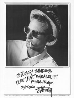 """Stussy Shades For That """"Babalouie"""" Feeling..."""