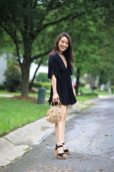 Looking for an LBD that will transition beautifully from summer to fall? Check out Sensible Stylista's latest to read about her find of the day, and see why this romper dress is worth the money! #budgetstyle #romperdress #LBD #blackdress #minidress #romper #affordablestyle #affordablefashion