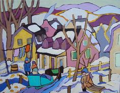 La Malbaie, Quebec,painting by Terry Ananny - Tutt Art Galleries
