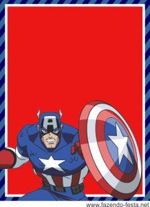 Para hacer tarjetas o etiquetas para Candy Bar del Capitán América.