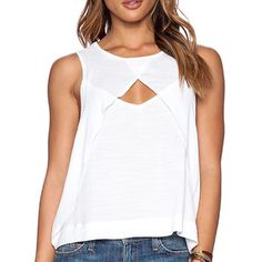 Free People Look Through Top in White