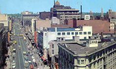 Looking toward downtown Syracuse 1950