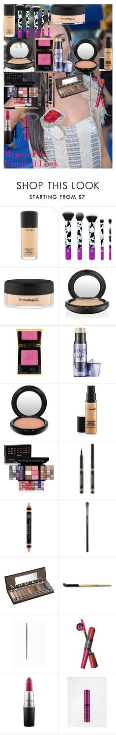 """Megan Fox Inspired Look"" by oroartye-1 on Polyvore featuring beauty, MAC Cosmetics, Yves Saint Laurent, Benefit, NYX, Max Factor, Anastasia Beverly Hills, Urban Decay, Bobbi Brown Cosmetics and Maybelline"