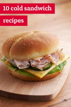 10 Cold Sandwich Recipes – Sandwiches are always a favorite lunchtime dish for the summer. What's not to like? Yummy bread, in the form of a roll, pita, or wrap, as a vehicle to hold filling that ranges from sandwich meats and cheeses to veggies and more!