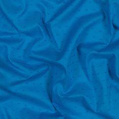 Italian Aegean Blue Cotton Swiss Dot