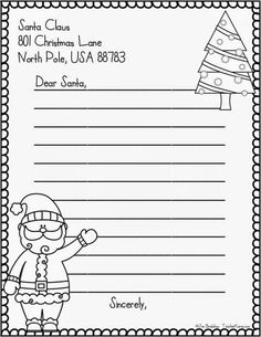 letter to santa freebie christma