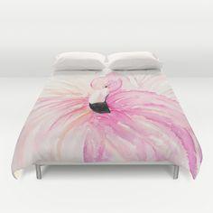 bettw sche mit flamingo als deko f r das schlafzimmer diy flamingo pinterest bettwaesche. Black Bedroom Furniture Sets. Home Design Ideas