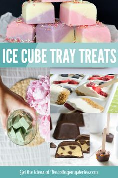 Ice Cube Tray Treats for Afternoon Tea – Tea Cottage Mysteries – Famous Last Words Ice Cube Molds, Ice Cube Trays, Ice Cubes, Home Made Ice Tea, Thai Tea Recipes, Ice Cube Recipe, Tea Sandwiches, Mini Desserts, Dessert Recipes