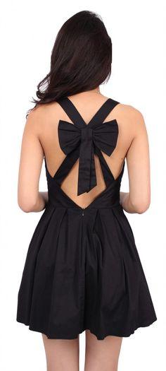 The BEST little black dress Ive seen!  Black Bow Back Dress