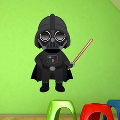 Stickers pour enfants: Darth Vader.  Vinyle décoratif Star Wars. #starwars #vinyle #mur #vader #decoration #deco #WebStickersMuraux
