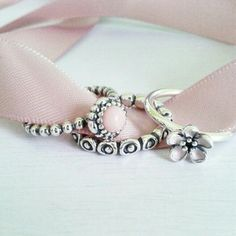 PANDORA Rings in Pretty Pink. Great for Stacking!