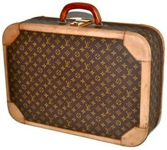 Louis Vuitton Monogram Suitcase Rare Vintage Structured Luggage Brown Travel Bag $900