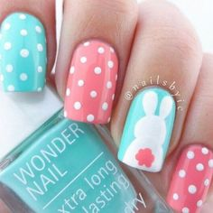 Here is Easter Nail Art Designs Collection for you. Easter Nail Art Designs 46 easter nail art designs and ideas for Ea. Nail Art Designs, Easter Nail Designs, Easter Nail Art, Short Nail Designs, Nail Designs Spring, Nails Design, Pedicure Designs, Spring Design, Dots Design