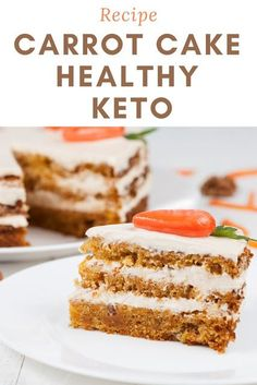 Carrot cake healthy KETO Quick Dessert Recipes, Sweets Recipes, Baking Recipes, Delicious Desserts, Cake Recipes, Yummy Food, Keto Desserts, Baking Tips, Greek Yogurt Cake