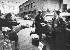 Ian Curtis, Bernard Albrecht/Sumner & Rob Gretton.Manchester, 1980. Photo by Anton Corbijn ... Follow - > www.songssmiths.wordpress.com Like -> www.facebook.com/songssmithssongssmiths