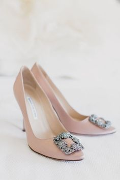 Blush buckle embellished pumps: http://www.stylemepretty.com/new-york-weddings/new-york-city/queens/2016/11/18/a-modern-foundry-wedding-in-full-bloom/ Photography: Mademoiselle Fiona - http://mademoisellefiona.com/
