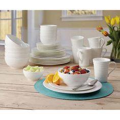 Mikasa Nellie 36-piece Bone China Dinnerware Set & Mikasa Swirl White 36-pc Bone China Dinnerware Set | Dishes ...