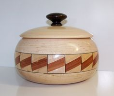 Maple Wooden Bowl with Lid 592 by woodbeginnings on Etsy, $75.00