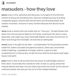 The Marauders - how they love
