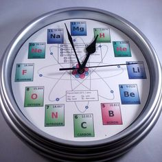 Pin by ashish dutt sharma on periodic table clock pinterest clocks colorful periodic table clock urtaz Images