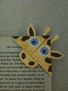 Giraffe Bookmark by syncalvo.deviantart.com