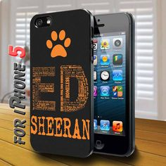 ed sheeran quotes Black Case for iphone 5