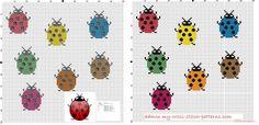 mariquitas de colores simples y pequeñas 20x23