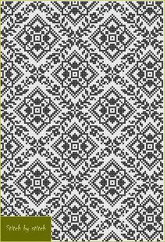 Ukraine, from Iryna Blackwork Embroidery, Folk Embroidery, Cross Stitch Embroidery, Cross Stitch Borders, Cross Stitching, Cross Stitch Patterns, Knitting Charts, Knitting Stitches, Knitting Patterns