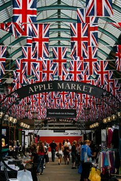 Jubilee Decorations in Covent Garden, London