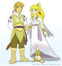Link and Zelda's wedding!! aw! via ask-sky-family.tumblr.com