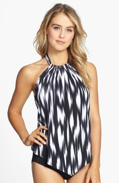 Magic Suit by Miraclesuit® 'Nicole - Cascade' Print Underwire Tankini Top | Nordstrom