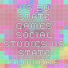 US 50 State Games - Social Studies - US State Flowers