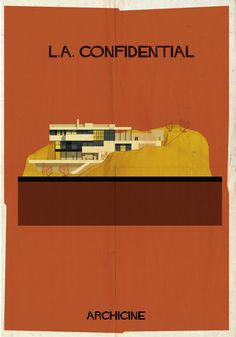 ARCHICINE: Illustrations of Architecture in Film - Federico Babina / L.A. Confidential. Directed by Curtis Hanson