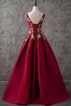 Bateau Floor-length A-line,Sleeveless Satin Prom Dress,Evening Dress on Luulla