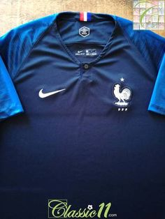 e47929cfa00 2018 France Home Football Shirt (L)