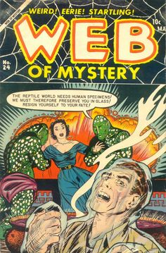Comic Book Cover For Web of Mystery #24