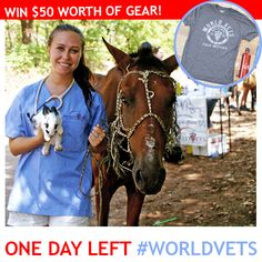 One day left to enter our #WorldVets photocontest for a chance to win $50 worth of awesome gear! Post a pic from one of your World Vets trips with the hashtag #WorldVets and you could be the lucky winner. Ends 8/1/15