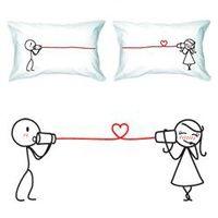 "Unique Gift Idea - ""Say I Love You"" Couple Pillowcase Set"