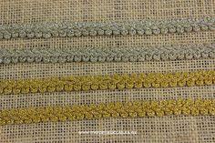 Pasamanerías doradas. Merceria La Costura Bilbao (www.mercerialacostura.com