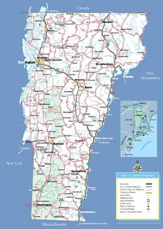 reference map of New England state MA physical map Crafts