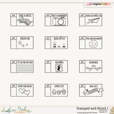 Stamped and Noted 1 by Southern Creek Designs @Plaindigitalwrapper