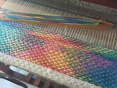 Colours in my rug weaving