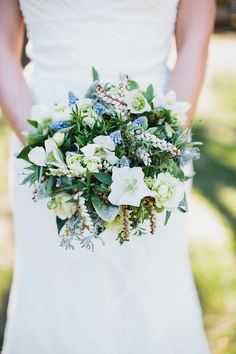 Herb centric bouquet by Fleuretica for Percy Sales Events Wedding