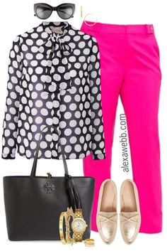 Plus Size Pink Trousers Outfit - Alexa Webb - Plus Size Pink Trousers Outfit – Plus Size Work Outfit Idea – Plus Size Fashion for Women – a - Plus Size Fashion For Women Work, Womens Fashion For Work, Work Fashion, Fashion Outfits, Fashion Trends, Fashion Ideas, Fashion Spring, Fashion 2018, Women's Fashion