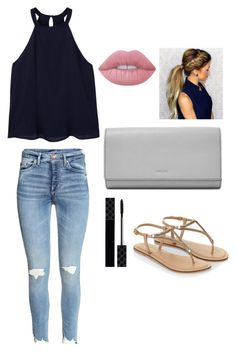 """""""spring school outfit"""" by griffinkite on Polyvore featuring MANGO, Lime Crime, Accessorize, FOSSIL and Gucci"""
