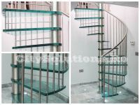 Spiral interior staircases painted steel with solid wood steps or secure and laminated glass steps. Glass Stairs, Floating Stairs, Wooden Stairs, Interior Staircase, Exterior Stairs, Painted Staircases, Wood Steps, Laminated Glass, Glass Floor